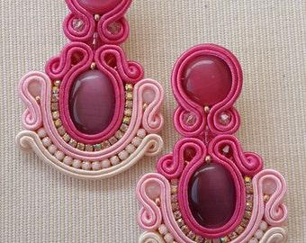 Lumiere pink earrings