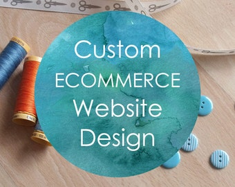 50% DEPOSIT Ecommerce Website Design and Development - custom and professional Wordpress website design and development with an online shop