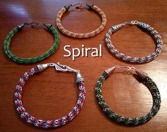 Custom Spiral Viking Knit Bracelet