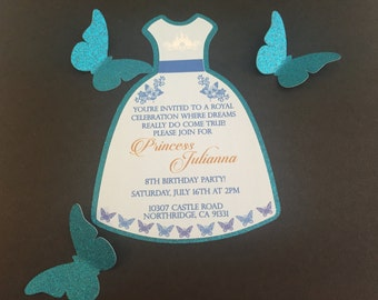 Butterfly Princess Invitation dress