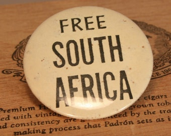 Free South Africa movement pin for the Free South African Movement
