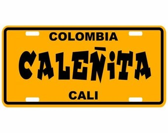 Caleñita - Colombia Decorative License Plate - Placa Cali