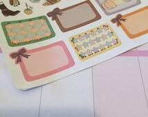 25% Off, Thankful Fall Themed Half Sheet Of Planner Stickers, Erin Condren, ECLP, Kikki K, PPP, MAMBI, Happy Planner, Planners Stickers Sets
