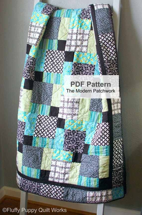PDF Quilt Pattern, Quilt Pattern, Lap Quilt Pattern PDF, Twin Quilt Pattern, Full Quilt Pattern, Queen Quilt Pattern, Quilt Pattern PDF