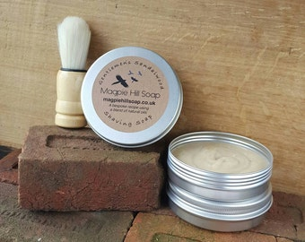 Fathers Day Gift Idea.Sandalwood Shaving Soap, Men's Shaving Soap, Natural Shave Soap, Gentleman's Shaving Soap, Sandalwood Soap, Manly Soap