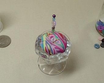 Saltcellar Pincushion Pedestal Dish Kaffe Fassett Fabric