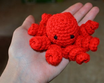Mini Octopus Stuffed Animal, Plush Octopus, Octopus Amigurumi, Crochet Octopus Amigurumi