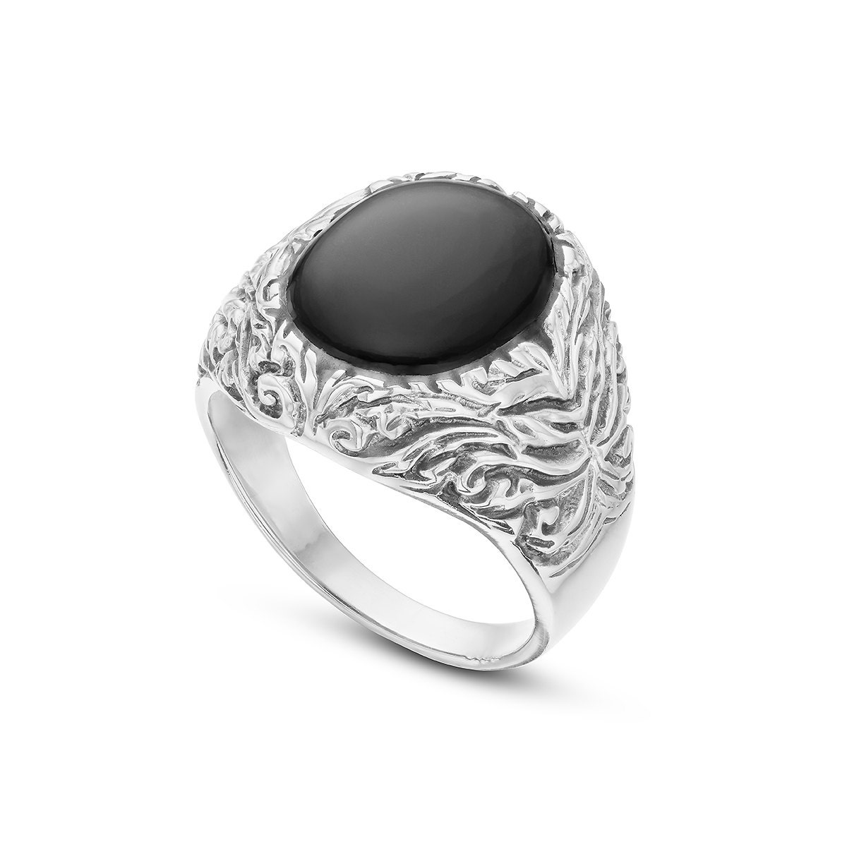 onyx sterling silver ring natural stone ring rings for men. Black Bedroom Furniture Sets. Home Design Ideas