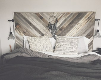 Oversized Reclaimed Wood Headboard
