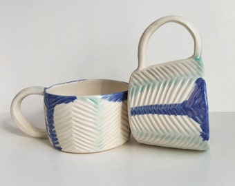 Herringbone Stripe Mug #1