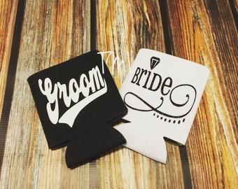 Bride and Groom Beverage Cooler/ Wedding Beverage Coolers/ Bride and Groom Set