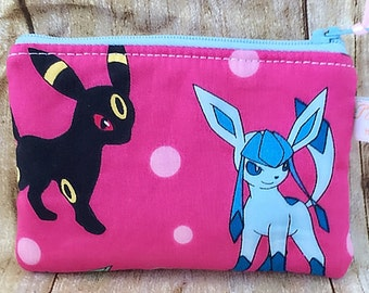 Pokemon change purse/ coin pouch/ small zipper pouch/ Evolution of Eevee