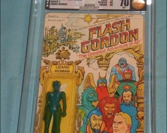Vintage Mattel Flash Gordon Lizard Woman MOC AFA 70 Grading