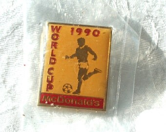 1990 World Cup Pin, World Cup 90 Tie Tack, McDonalds Tie Tac Pin, Soccer Tie Tack, Vintage McDonalds Pin, Gift for Him, World Cup Soccer Pin
