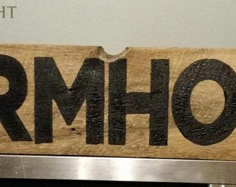 Farmhouse barnwood sign
