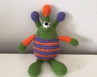 Morti the Handmade Crochet Monster