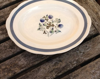 Vintage Blue Clover Alfred Meakin - Dinner Plate In Very Good Condition.