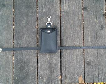 Black Leather Leg Wallet