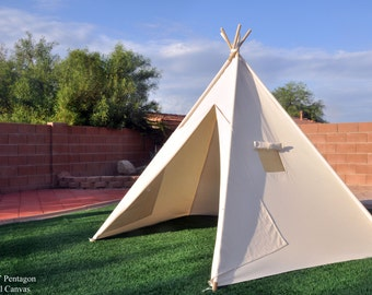 8' Saguaro XL Canvas Adult teepee, wedding teepee, event teepee Kids Teepee, Kids Play Tent, Childrens Play House, Tipi,Kids Room Decor