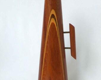 Wooden Mid Century Vase