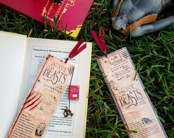Fantastic beasts and where to find them bookmark - Handmade
