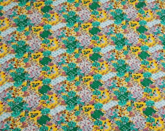 """45"""" Wide Multicolor Pure Cotton Floral Printed Pattern Dress Making Fabric Indian Designer Sewing Crafting Apparel Material By 1 Yd ZBC5314"""