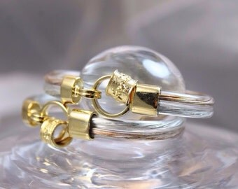 Bracelet corde with gold and silver