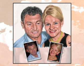 Custom Painted Portrait - great gift for birthday, anniversary, wedding gift, engagement