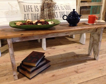 Cottage Chic Bench/Coffee Table
