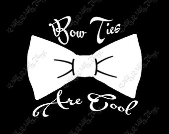 Doctor Who / Bow Ties Are Cool Vinyl Car Decal