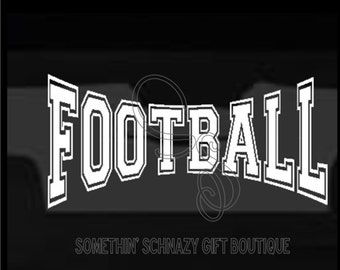 Football Vinyl Decal Etsy - Football custom vinyl decals for cars
