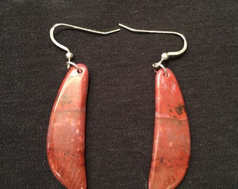 Red Flame Agate Earrings