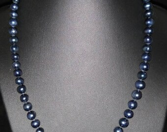 6MM Freshwater Pearl Necklace and Earring Set  18in
