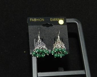 Tibetan Dome Jasper Dangle Earrings