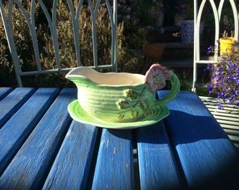 Staffordshire Shorter and Son Sauce Boat Hand Painted Vintage Retro Apple Sauce Boat Gravy Boat