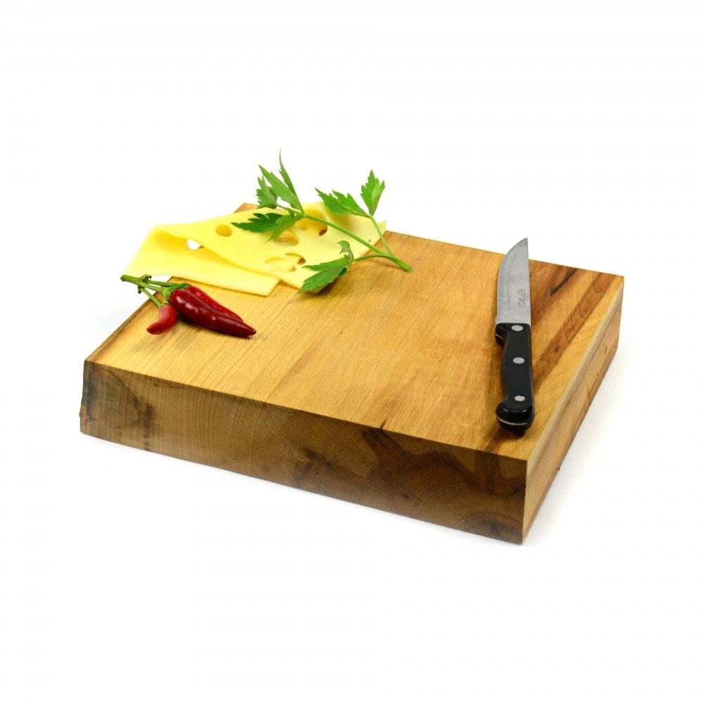 Wood Block Board ~ Unique rustic cutting board chopping wooden butcher block