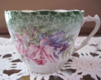 Vintage Hand-Painted Mustache Cup - Item #1334