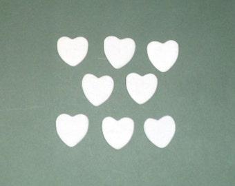 HEART STONES. 8 PIECES.