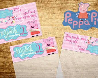 Peppa Pig Goodie Bag Toppers-Digital File