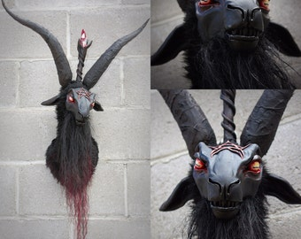 Baphomet - ooak hand made faux taxidermy baphomet head