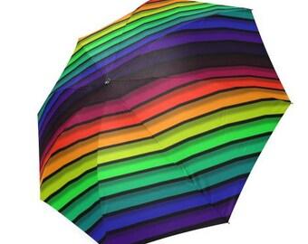Umbrella, Rainbow Umbrella, Festival Umbrella, Beach Umbrella, Unique Umbrella, Shade Umbrella,  Faerie Umbrella