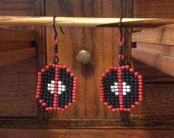 Deadpool Bead Earrings
