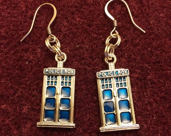 Dr. Who Police Box Earrings