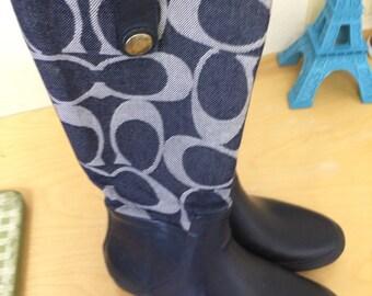 Coach rain boots, ladies size 7