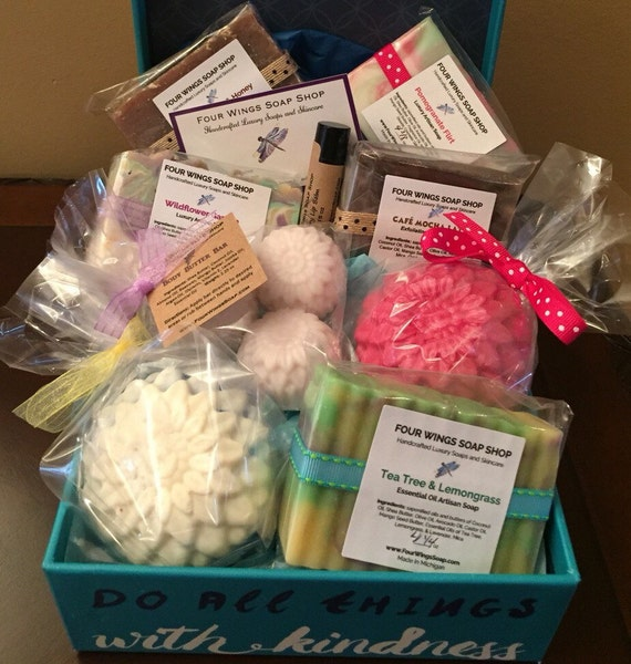 VeganGift Box- Gift BasketSoap BasketBridal Shower -Wedding ...