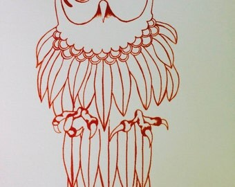 Owl - Limited Edition Handmade Ink Prints