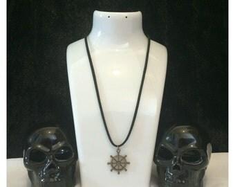 Ship wheel pendant - SALE necklace