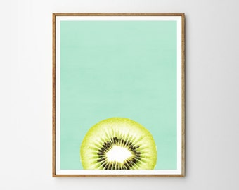 Kiwi, Tropical, Mint green, Abstract art, Modern art, Wall decor, Digital art, Printable, Digital poster Instant Download 8x10, 11x14, 16x20