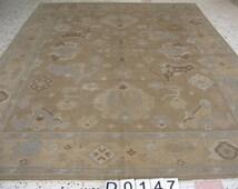 7,3  ft 9,2 ft Turkish rug, Anatolian carpet, Vintage rug, Bohemian rug, Colourful carpet, yellow carpet, oversize carpet