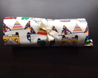 Bright Cars Patchwork Baby Blanket